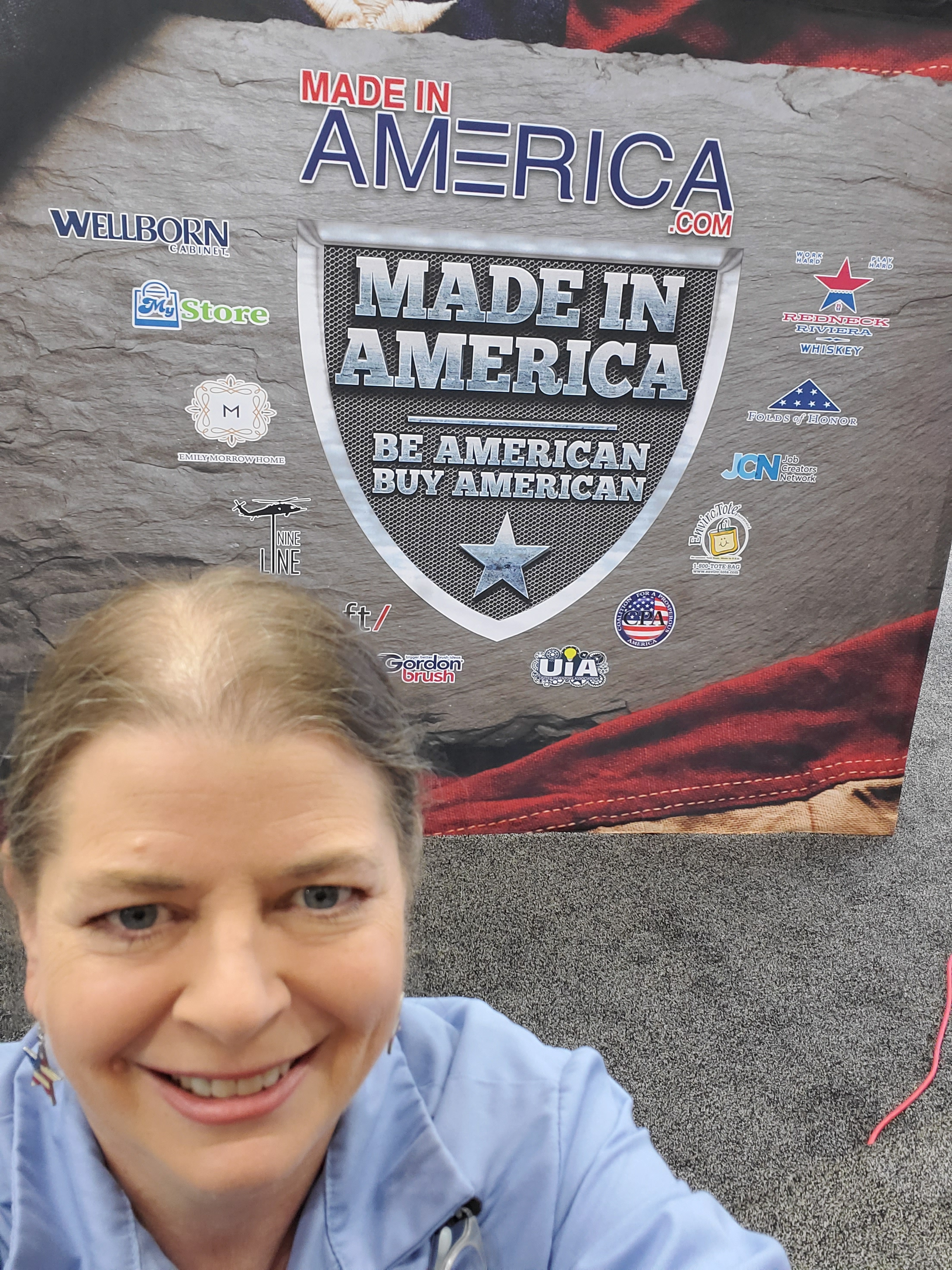 Connie the Patriot at the Made in America 2019 Trade Show