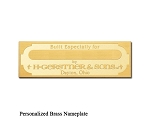 Gerstner & Sons Personalized Brass Nameplate