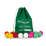Murbles STD 14 ball Sm. Tournament Set - 4 players, 3 balls each, in Light Red, Yellow, Pink, Light Green in a Green Bag