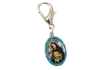 Saint Catherine of Siena - Hand-Painted Saint medal