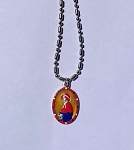 Saint Elizabeth Ann Seton - Exclusive Product for American Central Store - Hand-Painted Saint medal in Red, White and Blue