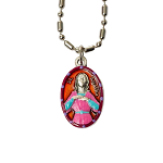 Saint Agatha - Hand-Painted Saint medal