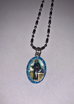 Saint Luke - Hand-Painted Saint medal