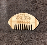G.W. Comb: Tiger Football wooden comb - HAND finished with unrefined, extra virgin Jojoba Oil