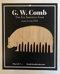 G.W. Comb: Bear-shaped wooden comb - HAND finished with unrefined, extra virgin Jojoba Oil