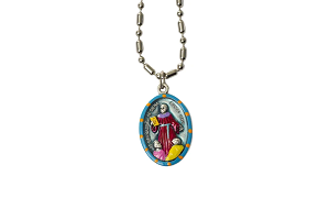 Saint Bernardino of Siena - Hand-Painted Saint medal