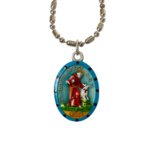 Saint Francis of Assisi - Hand-Painted Saint medal